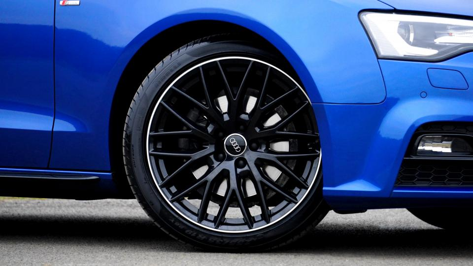 car blue wheels audi luxury