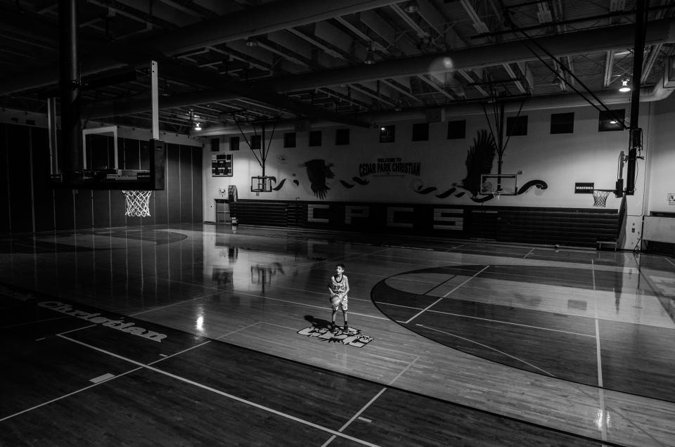 people, boy, court, basketball, game, sport, play, black and white, monochrome, ring