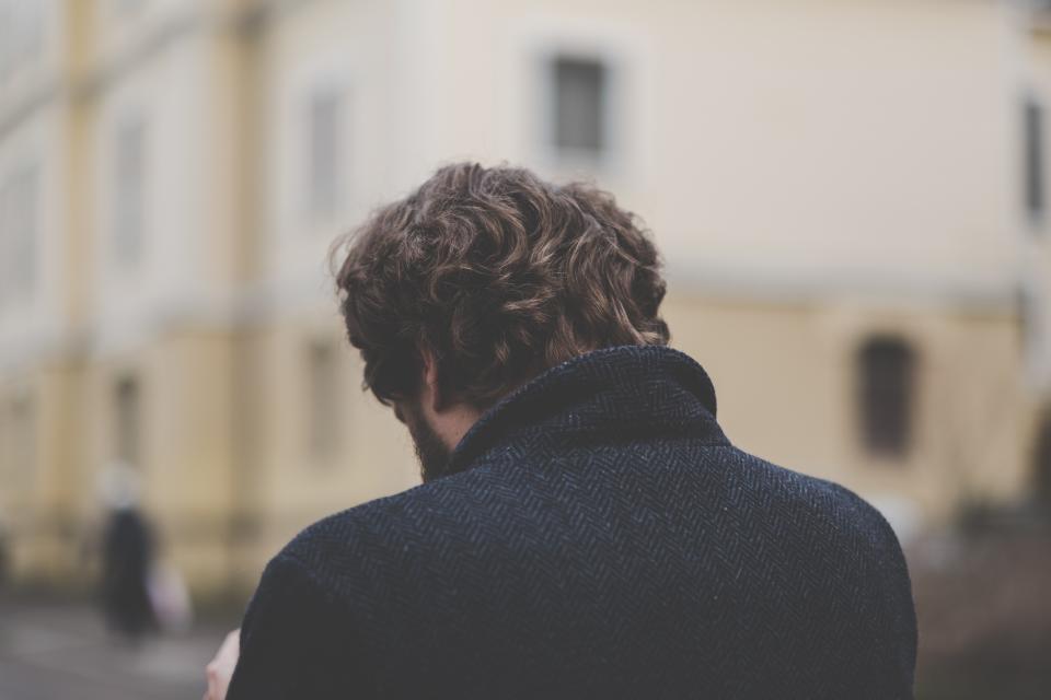 people, man, guy, back, walking, alone, sad