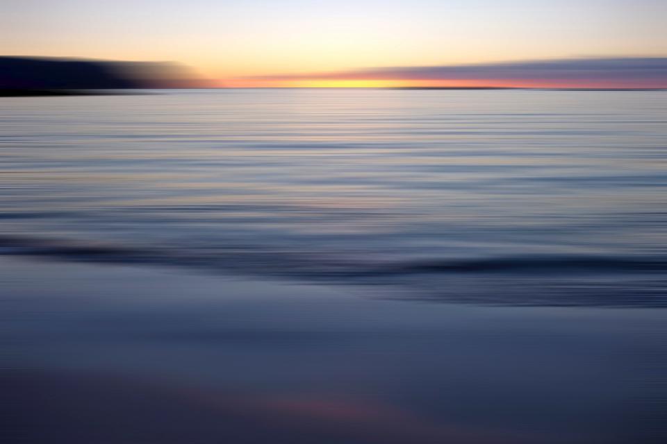 sea sunset sky ocean water clouds peaceful nature adventure travel