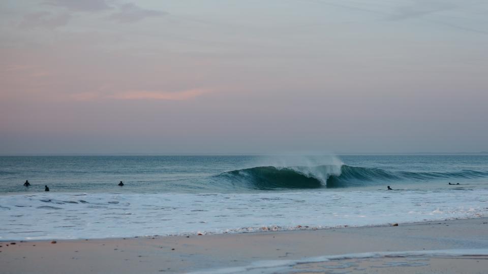 sea ocean blue water nature wave horizon sunset cloud sky beach shore coast