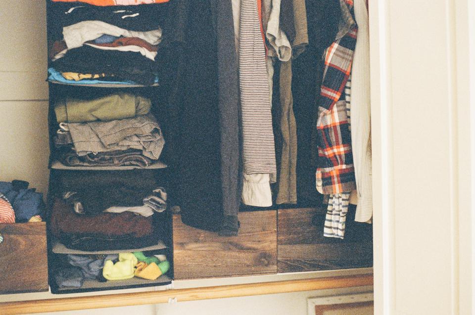closet clothes shirts pants drawers