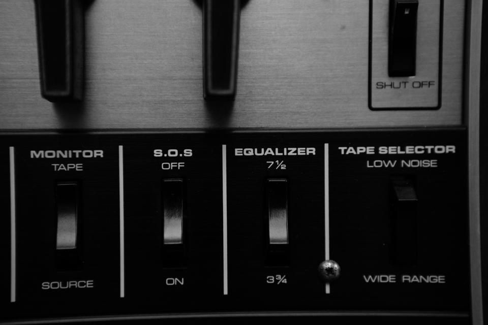 music audio equipment equalizer switches