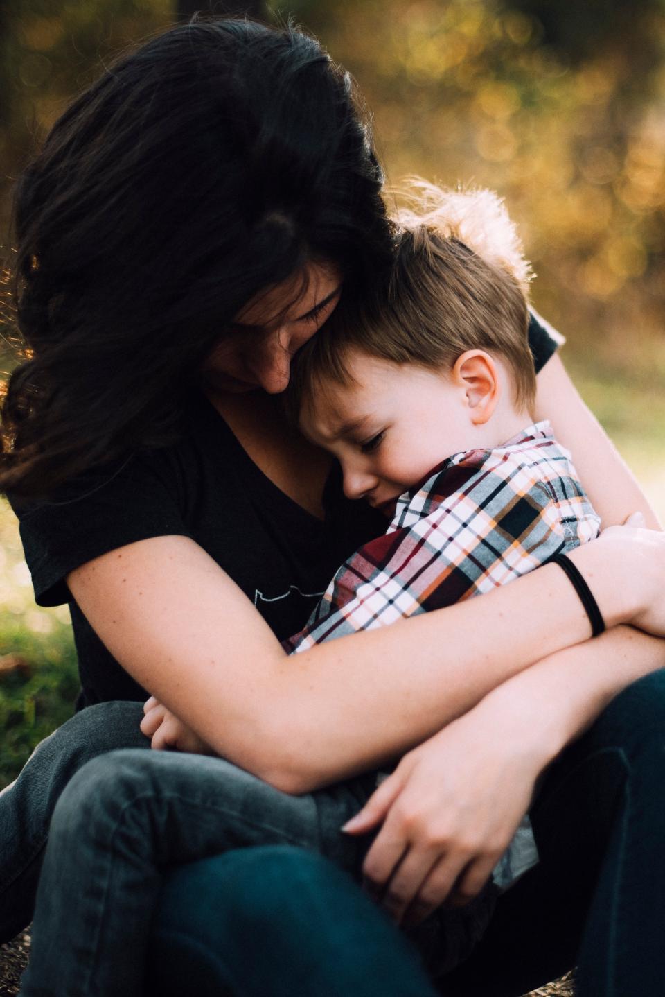 mother woman people kid baby child hug love parent sitting