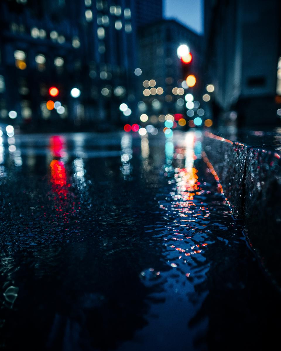 bokeh, lights, night, dark, photography, urban, city, car, transportation, vehicle, rain, building, establishment