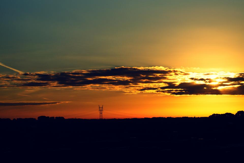 nature landscape clouds sky grass field travel adventure trek sunset beauty