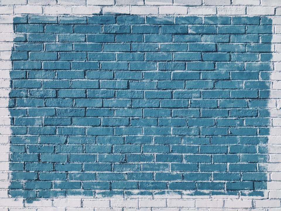wall, bricks, paint, rocks, pattern, stone