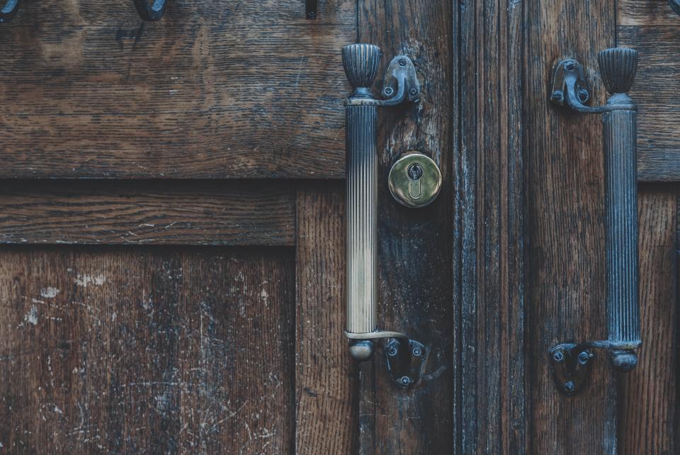wood, wooden, door, handle, latch