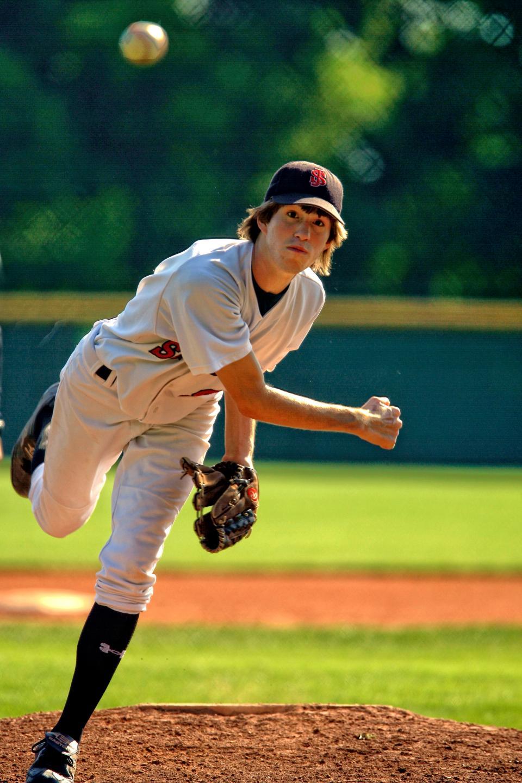 people, man, guy, playing, baseball, sport, green, field, event, game, blur, ball