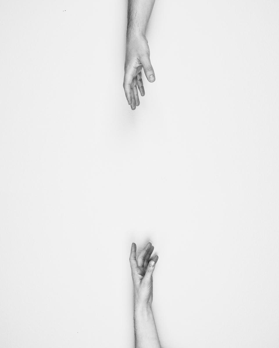 people, hands, distance, reach out, away, sad, love, black and white, monochrome