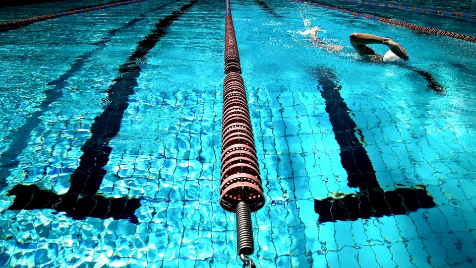 swimming pool water blue athlete fitness exercise