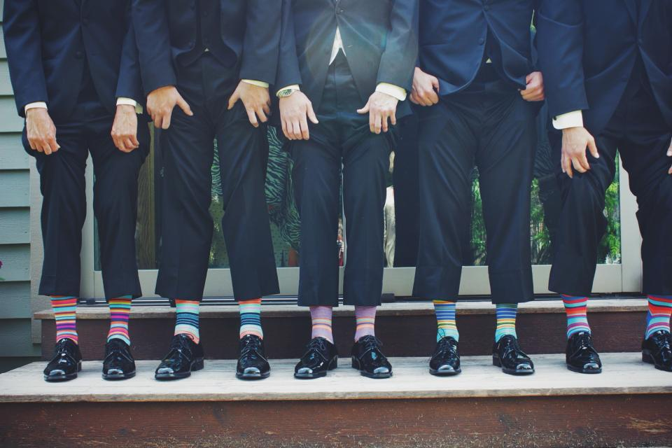 suits shoes funky socks fashion classy people men friends group