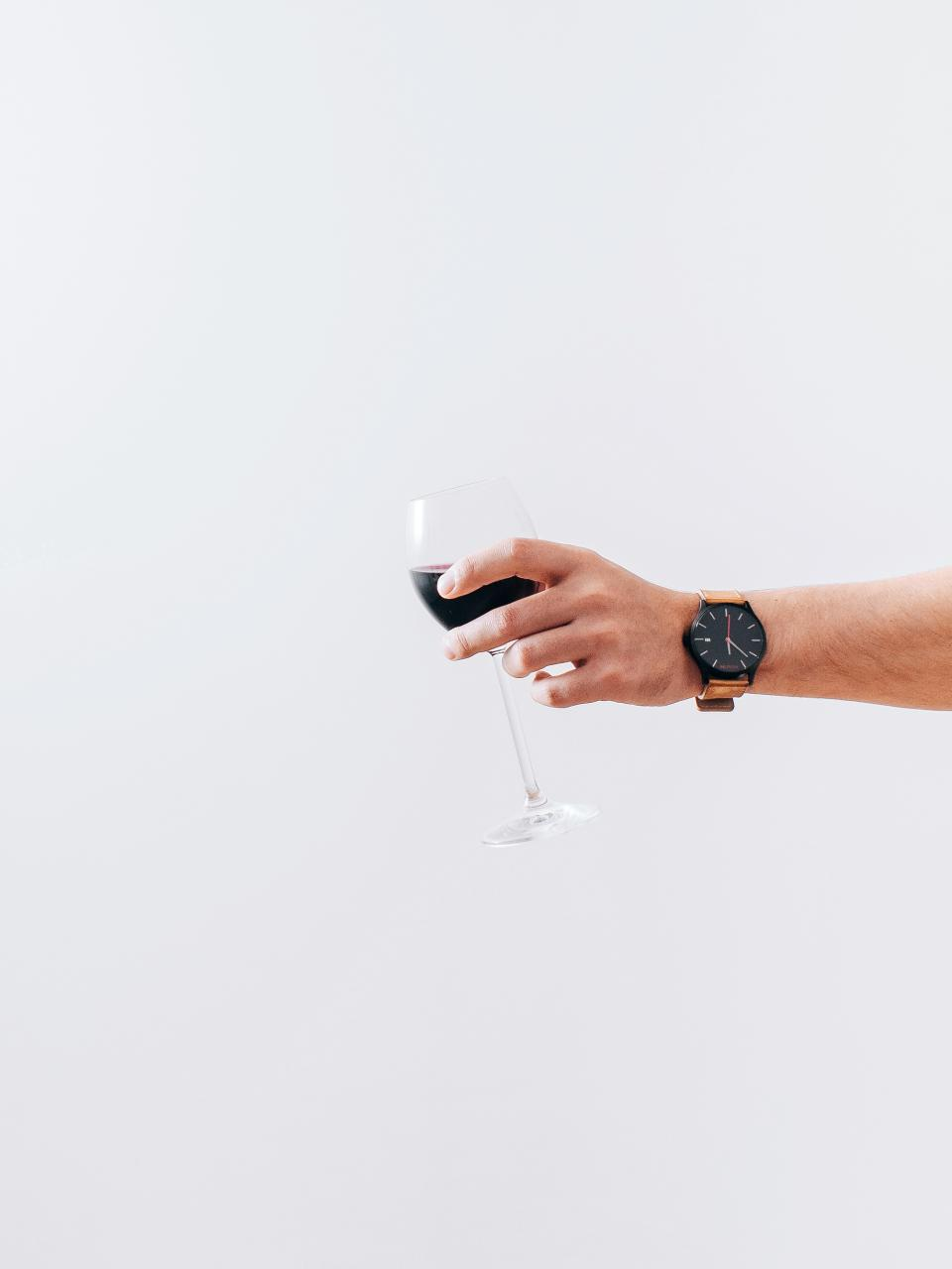 wine, glass, alcohol, drink, hands, watch, white