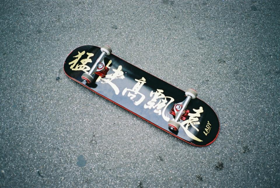 skateboard, wheels, street, pavement, ground