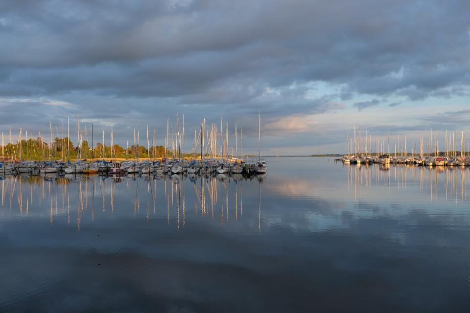 sea, ocean, water, reflection, nature, clouds, sky, yacht, boat, sailing, fishing