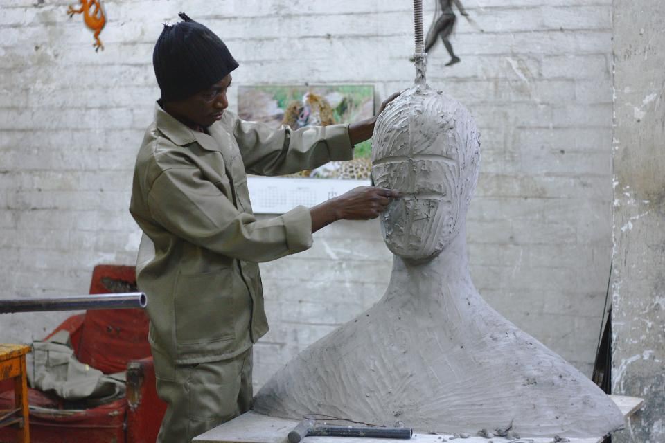 people, man, sculpture, carving, art