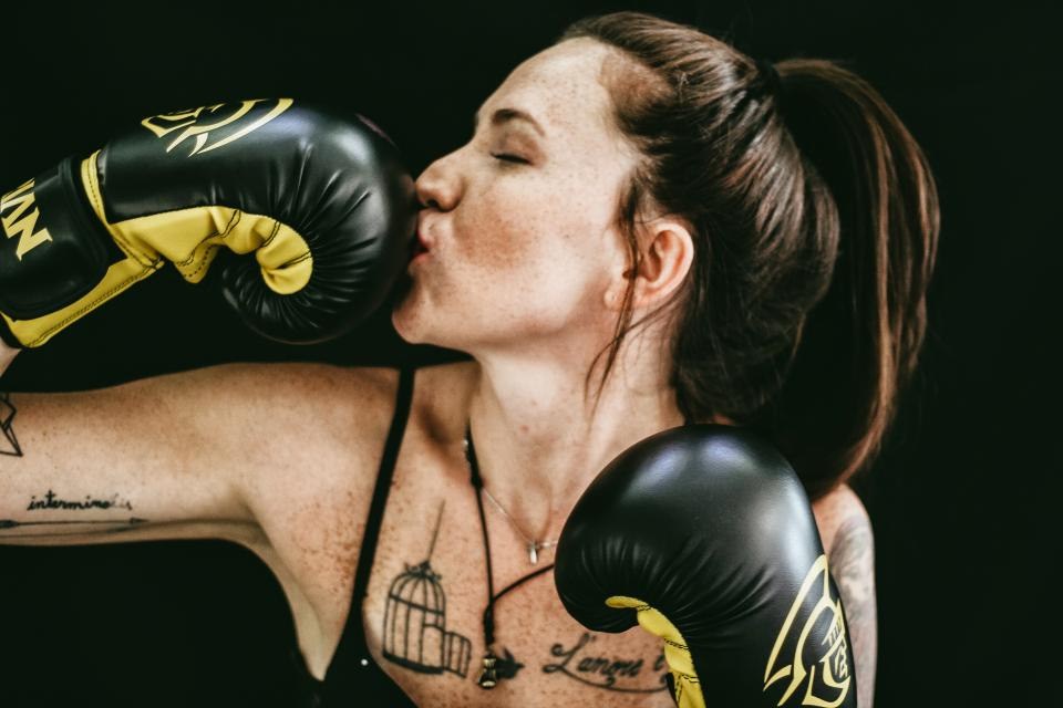people girl boxing gloves fitness exercise work out woman