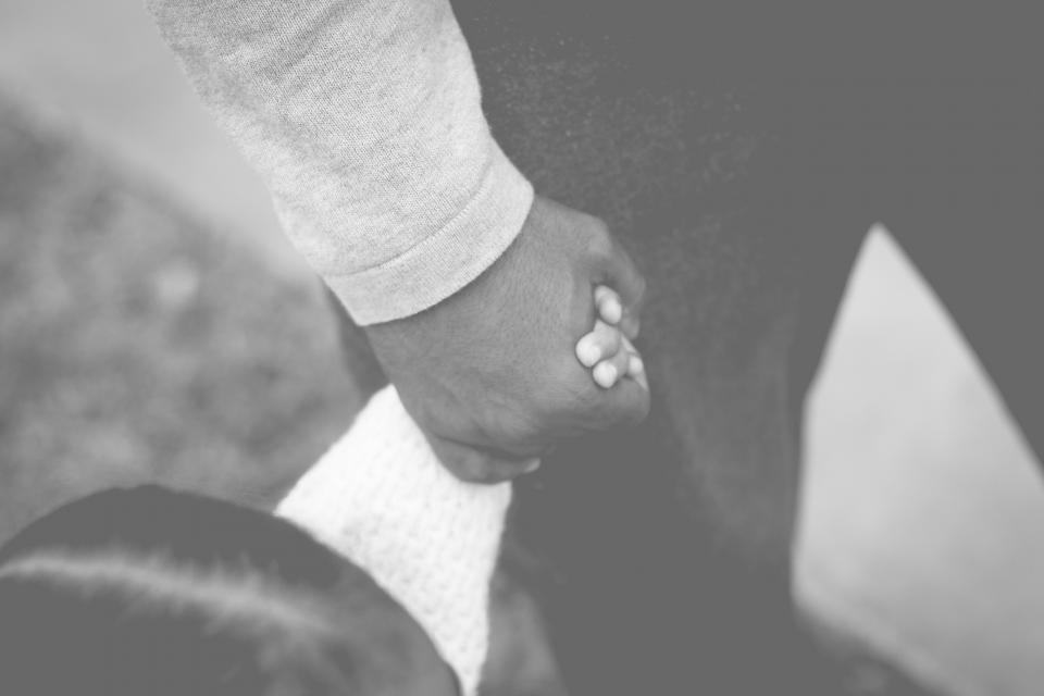 daughter, girl, father, holding, hands, black and white, dad, kid, child, people, love, sweet
