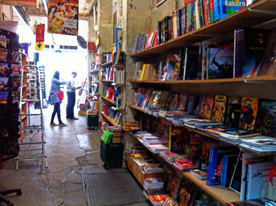 comic books store shelves
