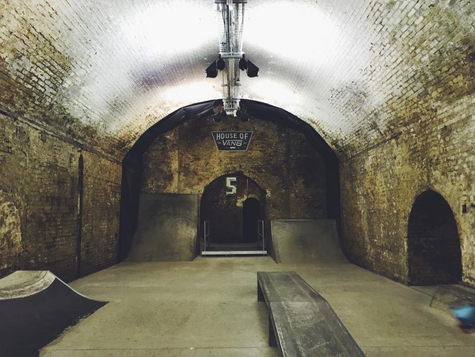 architecture, building, infrastructure, skateboard, sport, tunnel