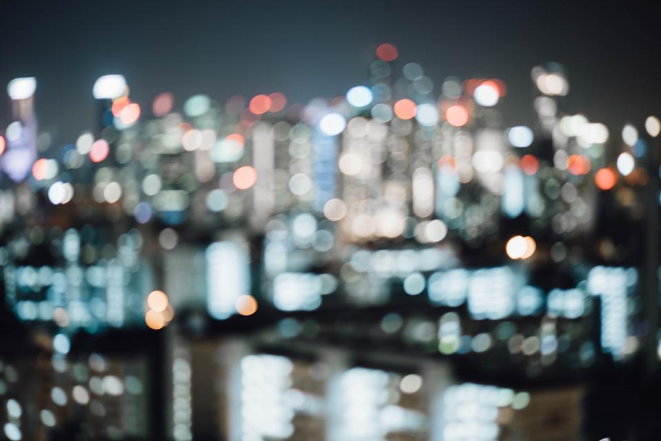 city lights bokeh night