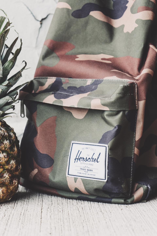 bag, backpack, travel, outdoor, herschel, pineapple, fruit, food, juicy, health