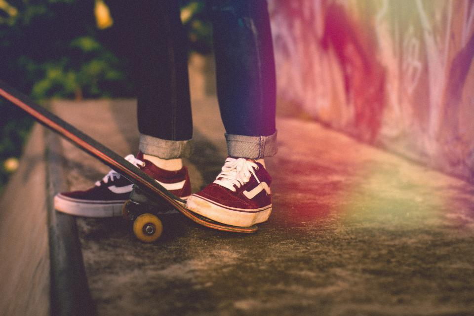people, man, skate, board, sport, hobby, vans, wheels, feet, shoes