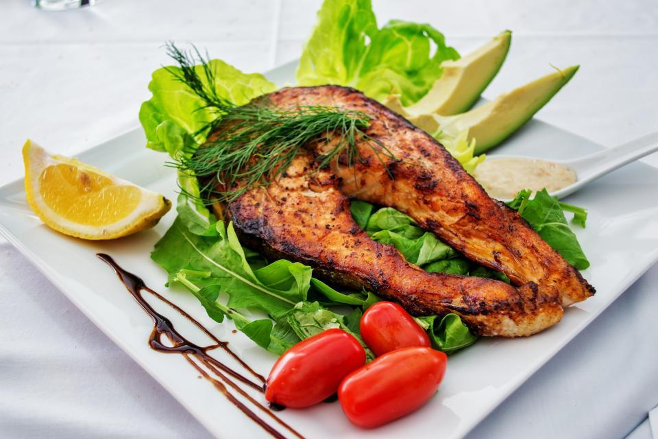 food, recipe, delicious, breakfast, lunch, dinner, restaurant, dish, viand, diet, tasty, vegetable, meal, herb, appetizer, cuisine, meat, fish, tomato, lemon, cabbage, garnish, plate