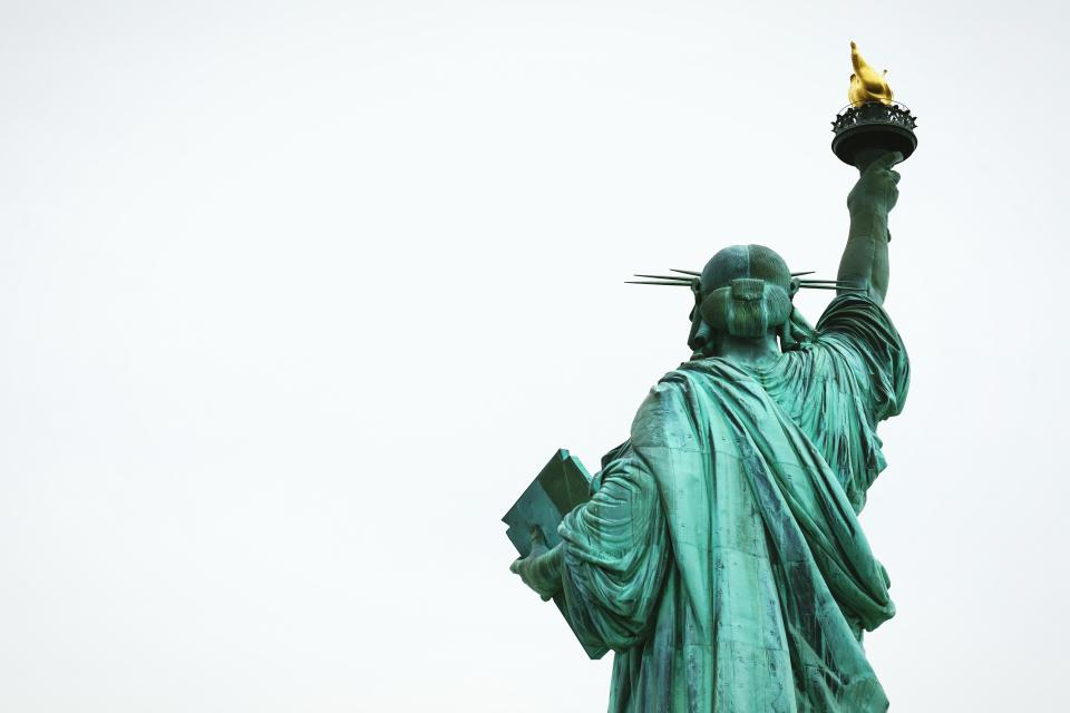liberty, statue, sculpture, monument