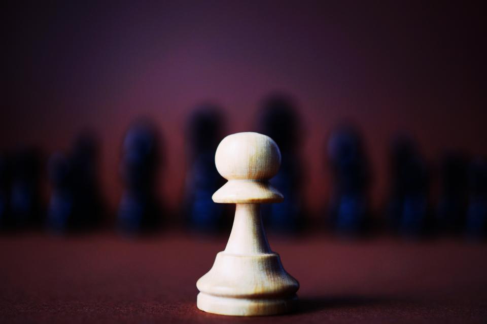 piece, chess, game, black, white, pawn, sport