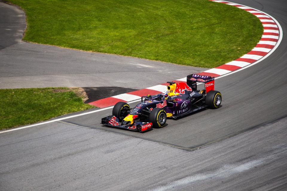 car, racing, sports, grass, field, wheels, redbull, helmet, racer, guy, man, driver