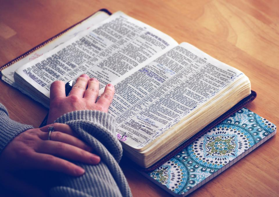 book bible religion reading study learning education hands