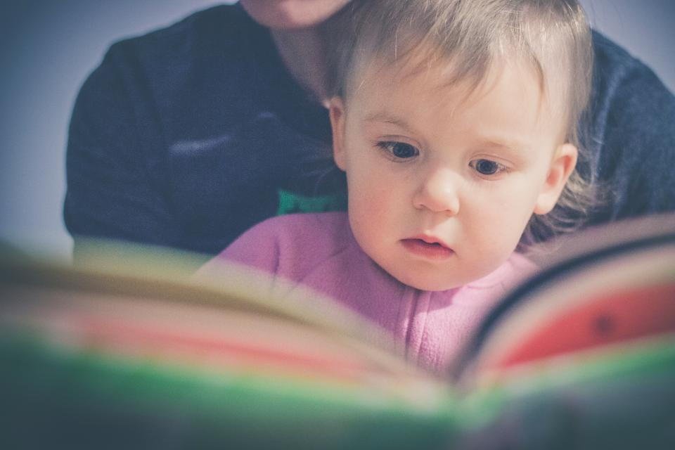 baby, kid, child, boy, reading, book, mother, son, people