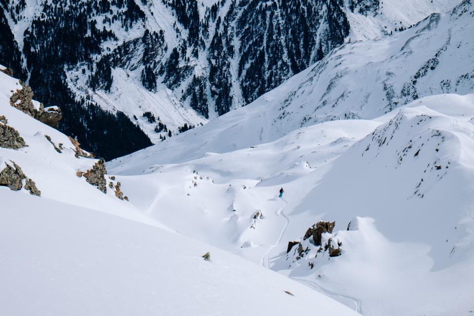 people, man, guy, alone, snow skating, sports, adventure, adventurer, rocks, ice, cold, frozen, plants, trees, pine, mountain