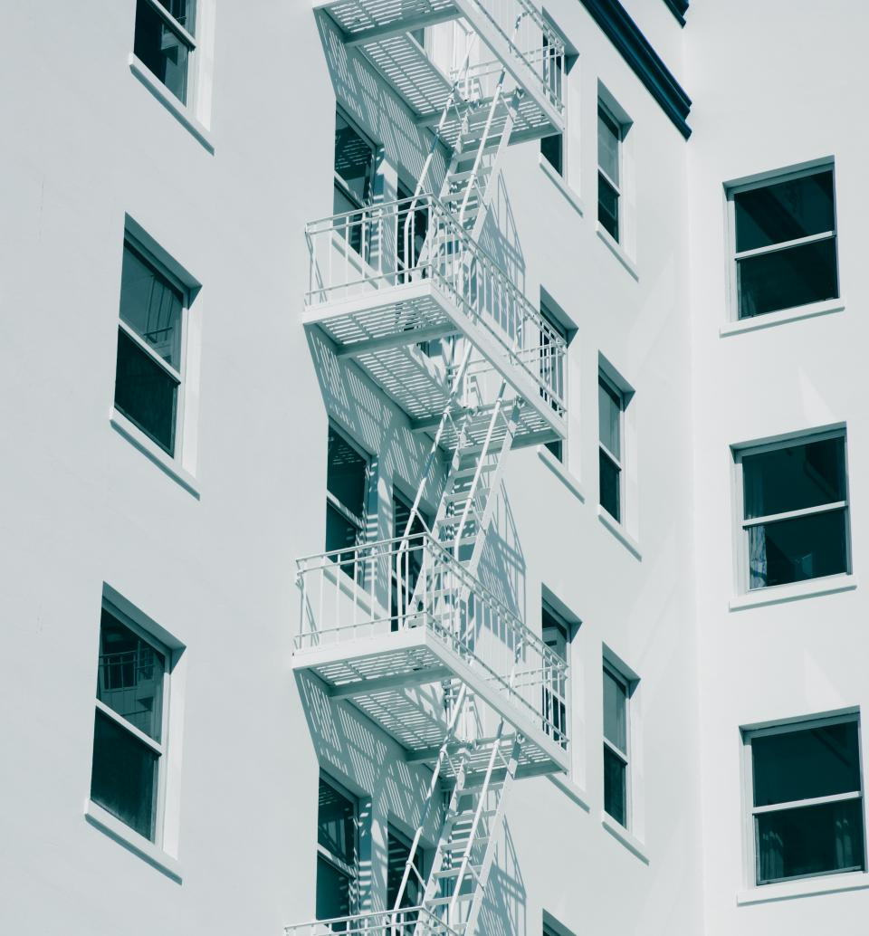 architecture building infrastructure window stairs fire exit