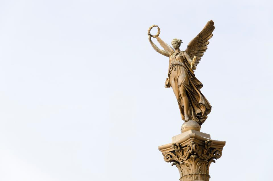 statue, sculpture, monument, archangel