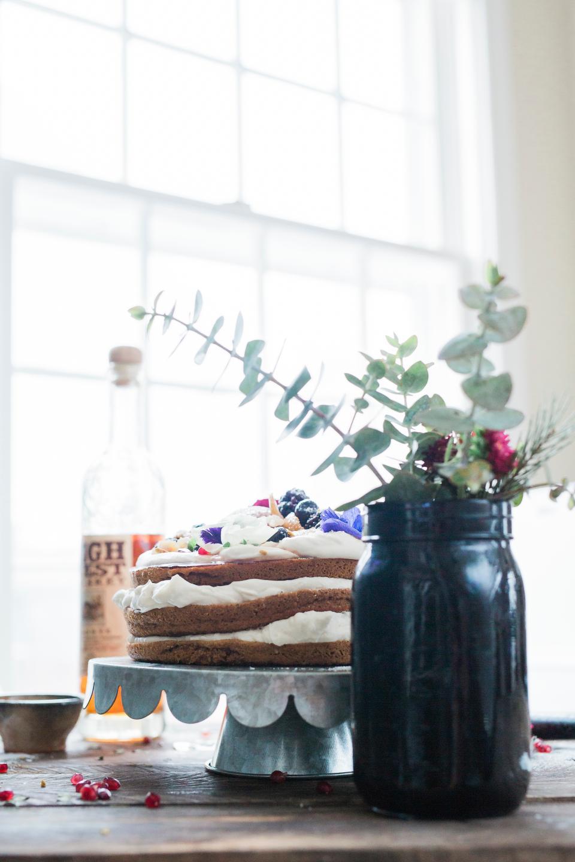 glass flower vase cake food sweets dessert table presentation