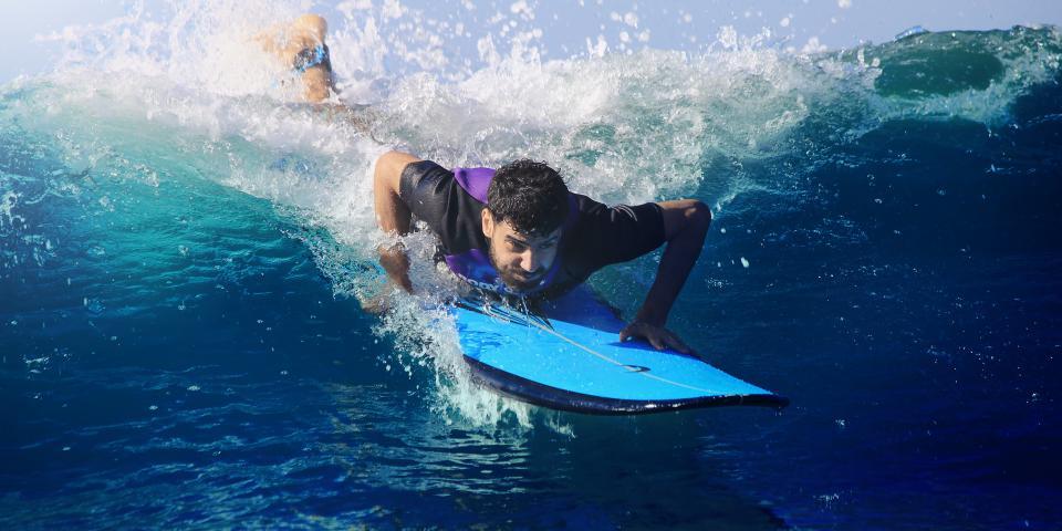 people, man, surfing, sport, board, blue, water, sea, ocean