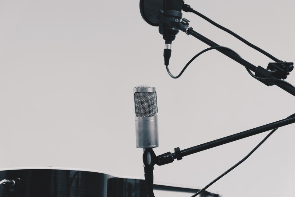 microphone stand recording studio equipment objects