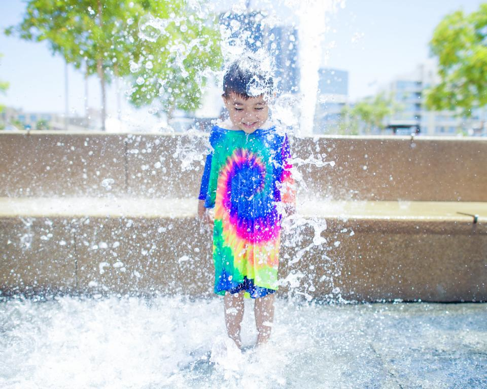 water, fountain, people, kid, swimming, child, boy, smile, happy, play