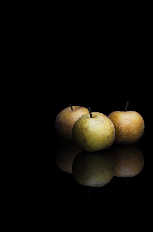 pears, fruit, juicy, food, sweet, health, dark, reflection