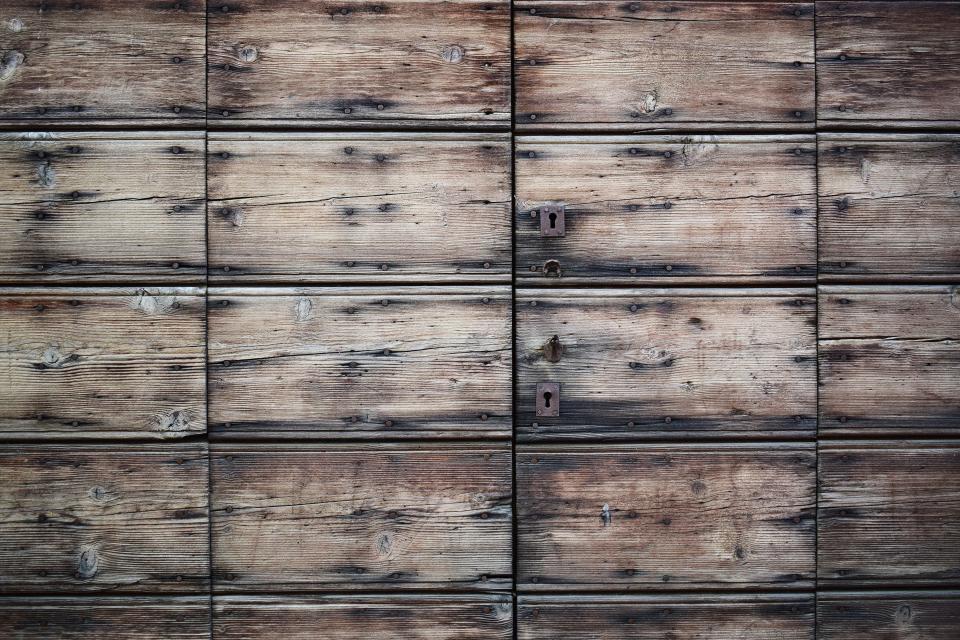 cabinet, drawer, wood, old, lock, key, symmetry, box