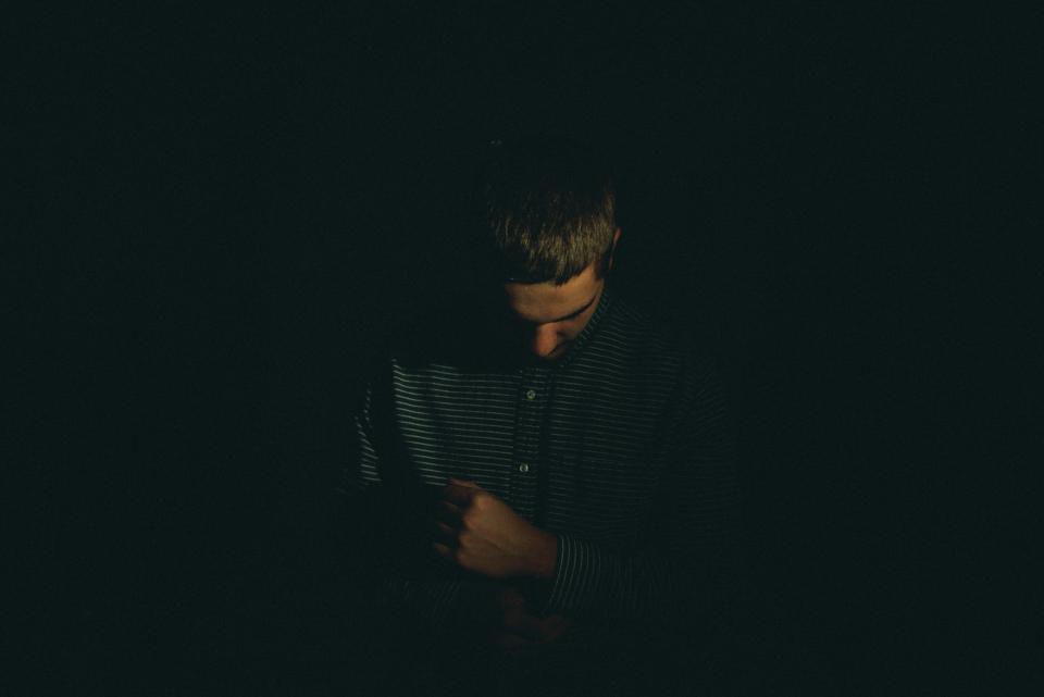 low light, people, man, sad, alone, dark