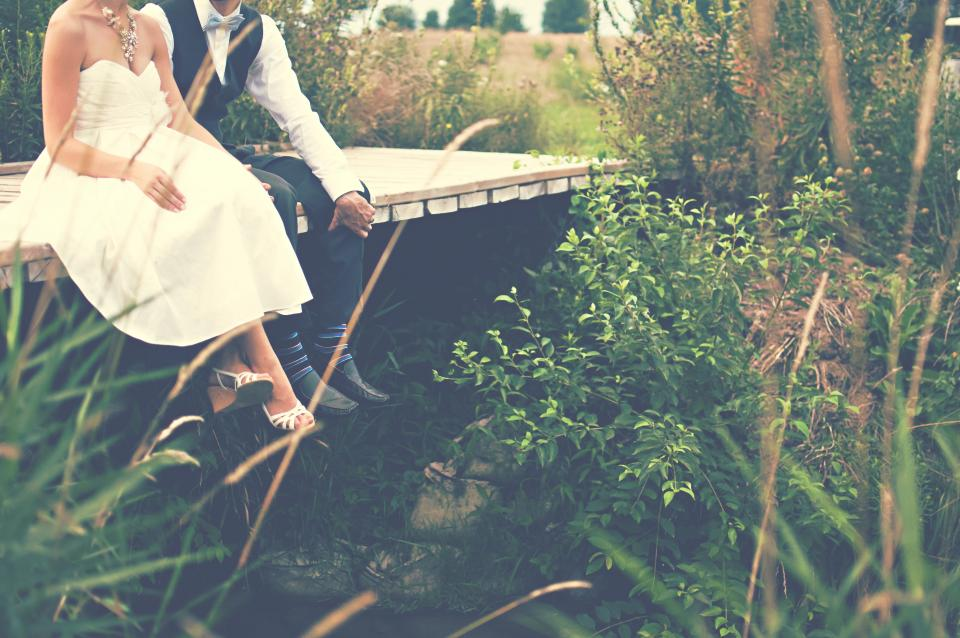 bride, groom, marriage, couple, love, romance, man, woman, people, wedding, nature, countryside, rural, summer, family