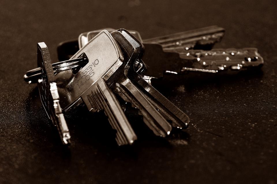 keys, door, secure, lock, ring, collection