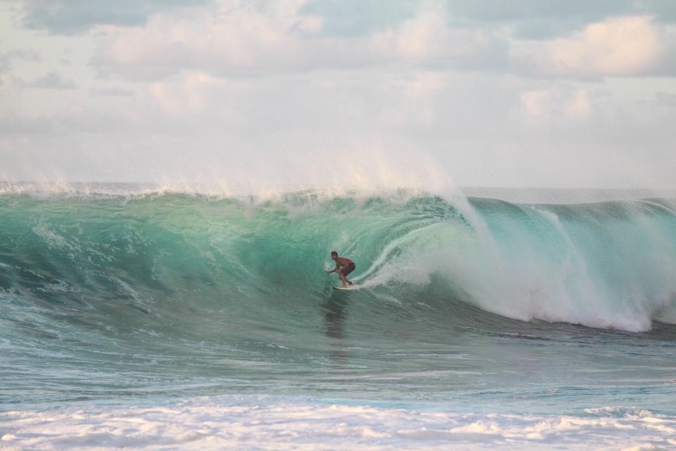 people, man, surfing, surfer, sport, sea, water, ocean, wave, sky