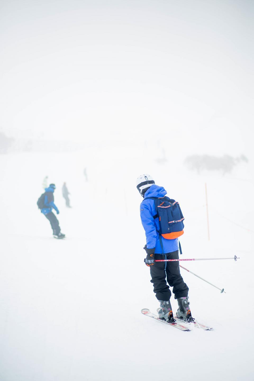 people, men, iceberg, snow, winter, skiing, sport, adventure, game