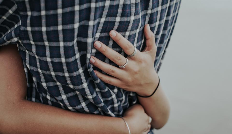 hug hand arm love