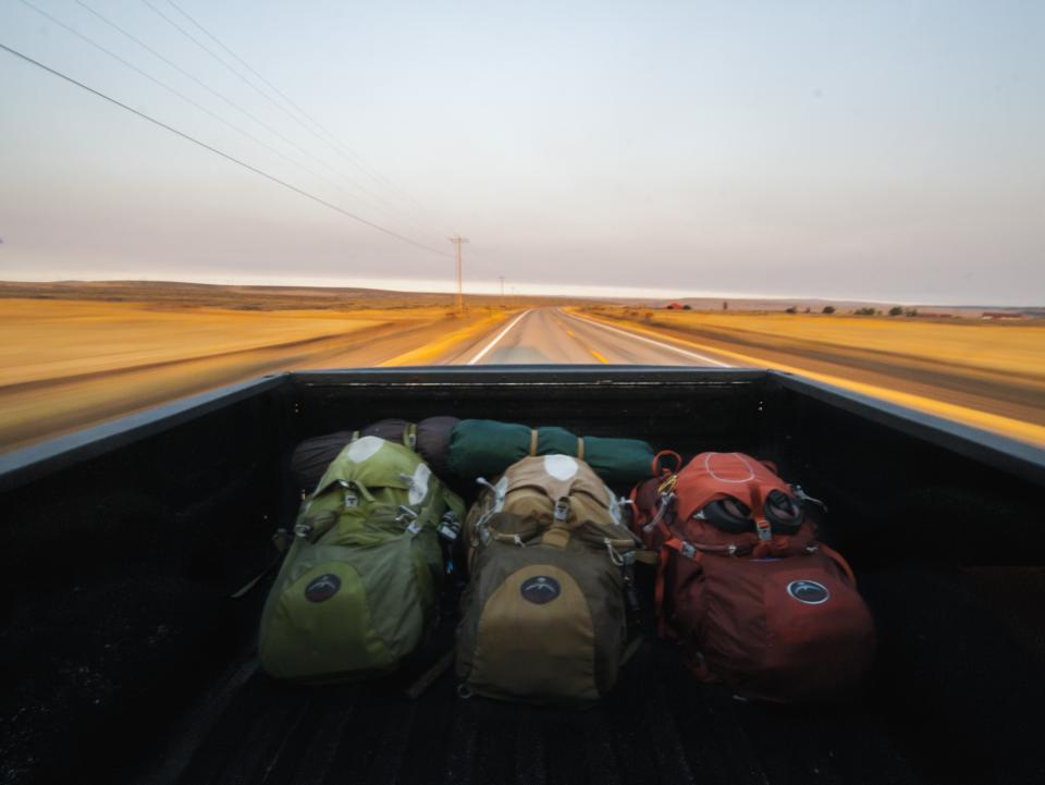desert landscape road trip travel outdoor bag camping mountaineering