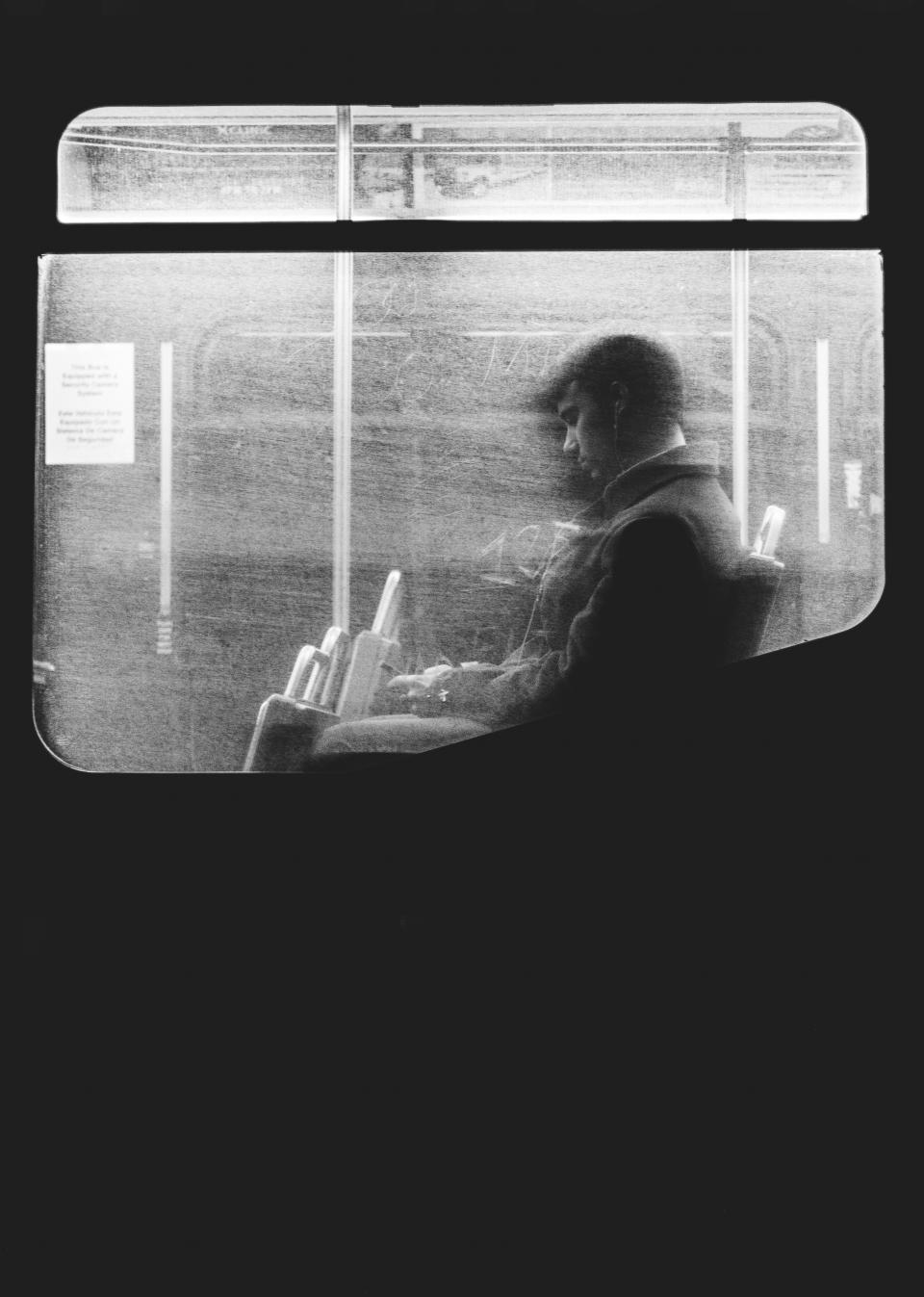 black and white, people, man, guy, sitting, alone, sad, travel, train, transportation